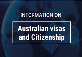 Information on Australian visas and citizenship
